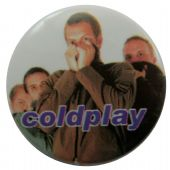 Coldplay - 'Group White' Button Badge